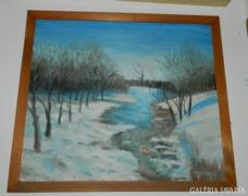 Dr. Domonkos Imre festmény > téli táj