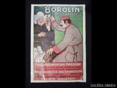 2035 C1 BOROLIN sósborszesz reklámplakát