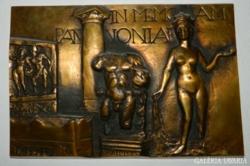 IN MEMORIAM PANNONIA -  képcsarnokos bronz  falikép
