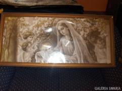 Antik szent kép - korabeli keretben - 124 x 58 cm