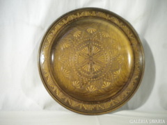 R378 B4 Nagyméretű fa falidísz tányér