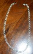 Jelekkel ellátott 925 -ös ezüst fél cm széles nyaklánc