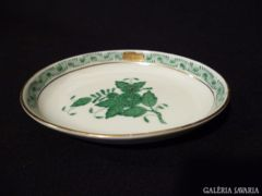 1477 K9 Zöld apponyi mintás herendi hamutál