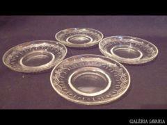 U881 I3 Régi üveg tányér 4 db