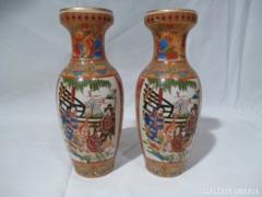 X107 G2 Porcelán kínai mintás vázapár