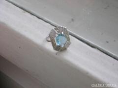 Szép nagy kék köves gyűrű