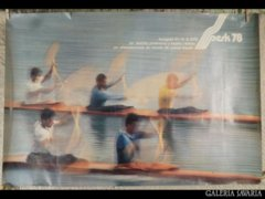 2450 T2 Kajakos sport reklám plakát Belgrád 1978