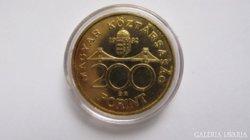 200.-Ft. aranyozott ezüst, certifikattal