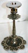 Antik Nikkelezett Vas Geshützt Gyertyatartó