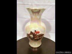 AD08 G5 Porcelán falkavadászatot ábrázoló váza