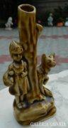 Piroska és a farkas antik kerámia váza