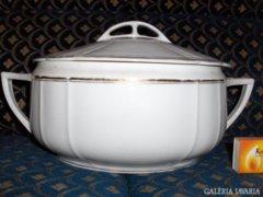 Antik MCP csehszlovák porcelán leveses tál
