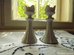 Porcelán gyertyatartók