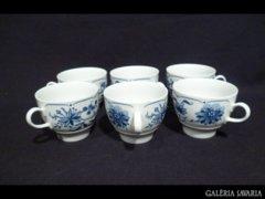 2873 A3 Régi JLMENAU porcelán csésze 6 db