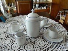 Arzberg  fehér kékszegélyes kávés készlet