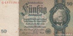Német 50 Reichs Mark 1933