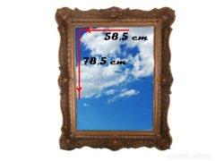 4164 T47 Antik blondel keretes fazettázott tükör