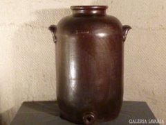 4165 T30 Hatalmas jelzett antik kőcserép edény