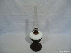 4265 J3 Antik öntöttvas üveg petróleum lámpa