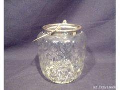 4596 L4 Régi üveg jégtartó kosár 15,5 cm