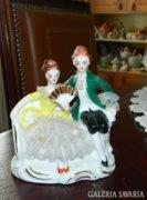 Jelzett tüllszoknyás barokk balerína
