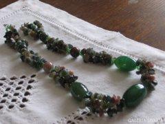 Jáspis zöld nemes kő lánc