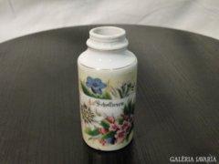 3846 Régi osztrák bécsi porcelán ibolyaváza