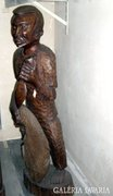 Maláj halász - szobor fából