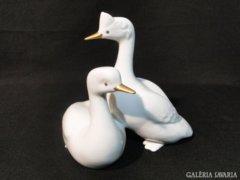0472 Régi Hollóházi porcelán madár pár 21 cm