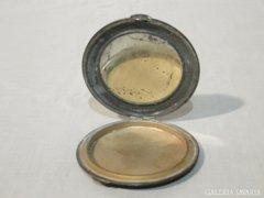0663 Régi jelzett tükrös púderes doboz