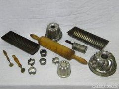 0534 Antik cukrászati eszköz gyűjtemény 14 db
