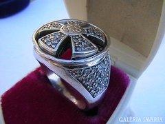 Óriási ezüst koktélgyűrű 12,9 gr