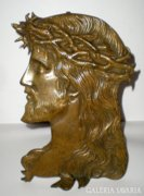 Bronz, Jézus arcképes asztali kép