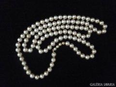 5562 Régi fűzött bizsu nyaklánc gyöngysor 76 cm