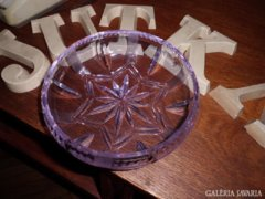 Színváltó üveg bonbonier (neodim üveg)