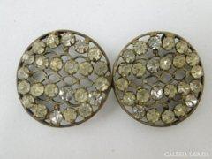 5670 Antik csiszolt üveg ékköves női ruhadísz pár