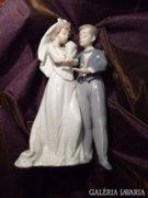LLADRO esküvői párt ábrázoló Spanyol porcelán figura