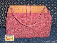 Retro horgolt ridikül, női kézi táska