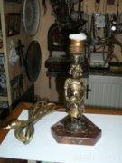 Réz figurális asztali lámpa