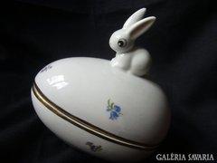 Nagy tojás porcelán bonbonier húsvét Holloháza