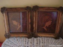 Antik intarzia képek Mária és Jézus