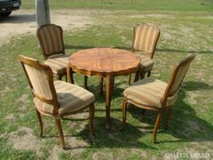 Barokk asztal 4székkel