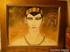 Kleopátra olajfestmény