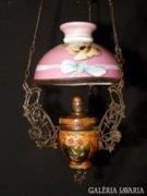 N259 Majolika betétes lüszter lámpa