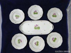 7335 Herendi porcelán tortás készlet 6 szem.