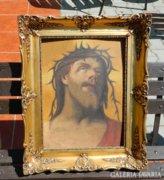 A szenvedő Jézus Krisztus - olaj festmény blondel keretben