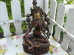 Sárgaréz indiai szobor festett (37cm) Alkudható!