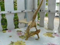 Sárgaréz madár szobor (27cm) Alkudható!
