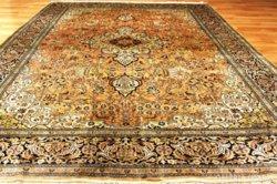 Antik! selyem kézicsomózású perzsaszőnyeg 390x185cm Kuriózum
