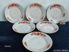 Zsolnay süteményes tányér készlet - 6 darabos